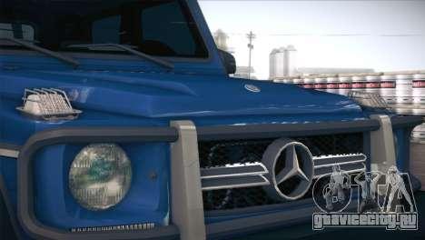 Mercedes-Benz G63 AMG 6X6 для GTA San Andreas вид изнутри