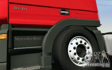 Mercedes-Benz Actros для GTA San Andreas вид снизу
