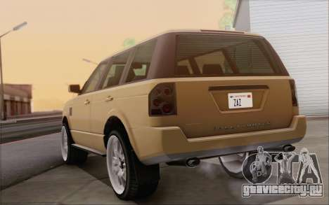 Gallivanter Baller из GTA V для GTA San Andreas вид изнутри