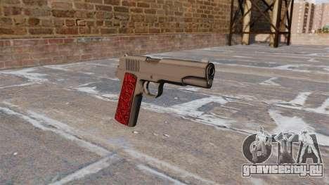 Пистолет Colt 1911 Chrome для GTA 4