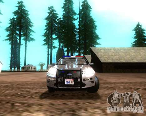 Ford Interceptor Los Santos County Sheriff для GTA San Andreas вид слева