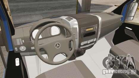 Mercedes-Benz Sprinter 2011 WWE Ultimate Warrior для GTA 4 вид сзади