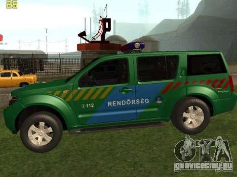 Nissan Pathfinder Police для GTA San Andreas вид слева