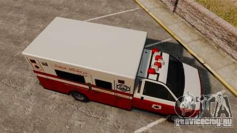 Иранский раскрас скорой медицинской помощи для GTA 4 вид справа