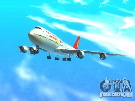 Boeing 747 Air China для GTA San Andreas вид сверху