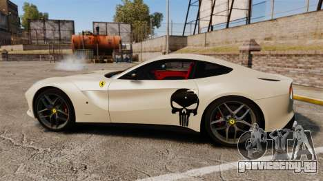 Ferrari F12 Berlinetta 2013 [EPM] Deaths-head для GTA 4 вид слева