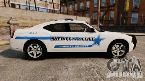 Dodge Charger 2010 Liberty County Sheriff [ELS] для GTA 4 вид слева