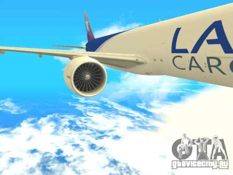 Boeing 777 LAN Cargo для GTA San Andreas вид сзади