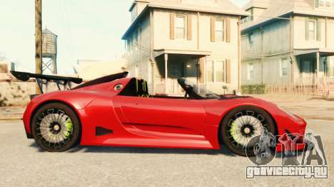 Porsche 918 Spider Body Kit Final для GTA 4 вид слева