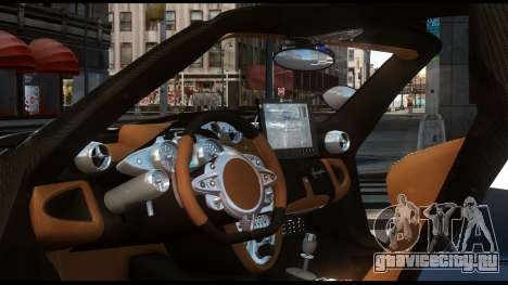 Pagani Huayra Police v1.1 для GTA 4 вид сзади слева