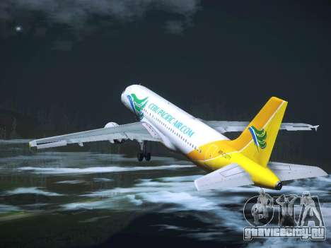 Airbus A320 Cebu Pacific Air для GTA San Andreas вид снизу
