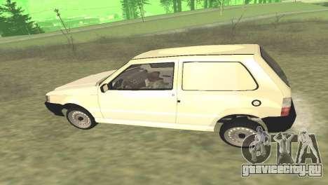 Fiat Uno Fire Cargo для GTA San Andreas вид справа