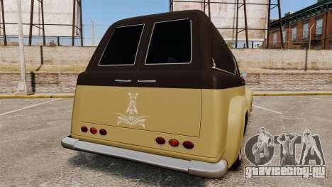 Vapid Slamvan для GTA 4 вид сзади слева