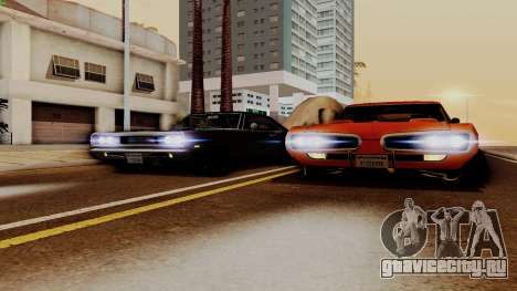 Dodge Coronet RT 1969 440 Six-pack для GTA San Andreas вид изнутри