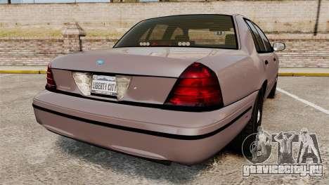 Ford Crown Victoria 2008 LCPD Detective [ELS] для GTA 4 вид сзади слева