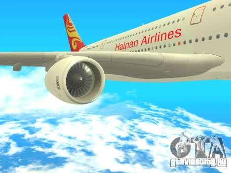 A380-800 Hainan Airlines для GTA San Andreas вид справа
