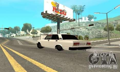 ВАЗ 2107 Avtosh для GTA San Andreas вид сзади слева