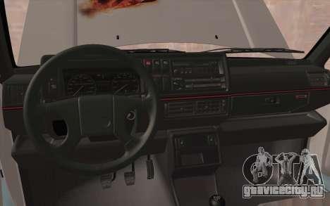 Volkswagen Golf 2 для GTA San Andreas вид изнутри