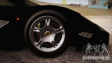 McLaren F1 Police Edition для GTA San Andreas вид справа