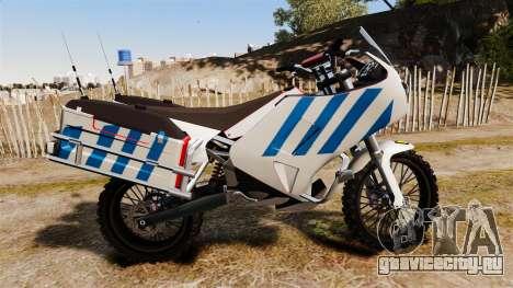 Португальский полицейский мотоцикл [ELS] для GTA 4 вид слева