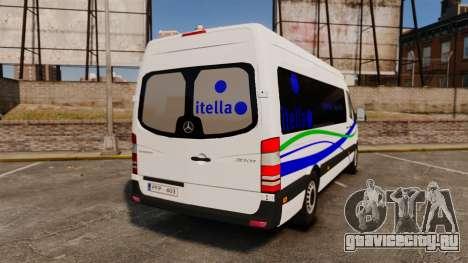 Mercedes-Benz Sprinter Itella Logistics для GTA 4 вид сзади слева
