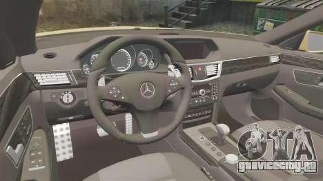 Mercedes-Benz E63 AMG для GTA 4 вид изнутри