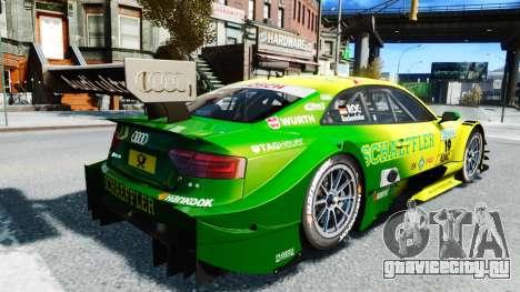 Audi RS5 DTM для GTA 4 вид сзади слева