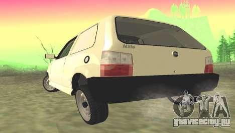 Fiat Uno Fire Cargo для GTA San Andreas вид сзади слева