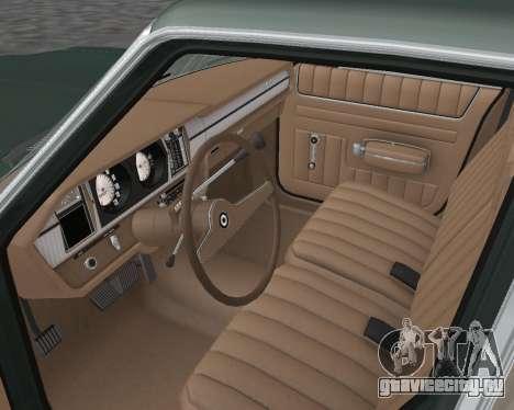 AMC Matador 1972 для GTA San Andreas вид изнутри
