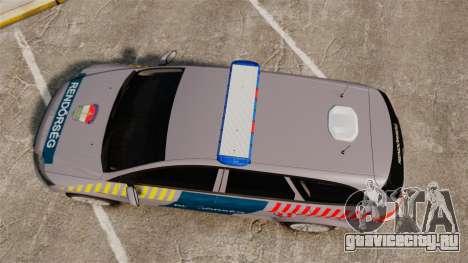 Ford Mondeo Hungarian Police [ELS] для GTA 4 вид справа