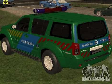 Nissan Pathfinder Police для GTA San Andreas салон
