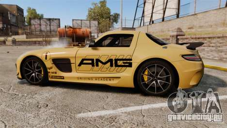 Mercedes-Benz SLS 2014 AMG Driving Academy v2.0 для GTA 4 вид слева