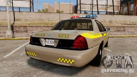 Ford Crown Victoria NLSP [ELS] для GTA 4 вид сзади слева