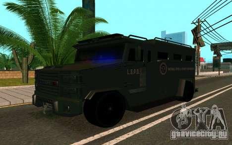 GTA V Police Riot для GTA San Andreas вид справа
