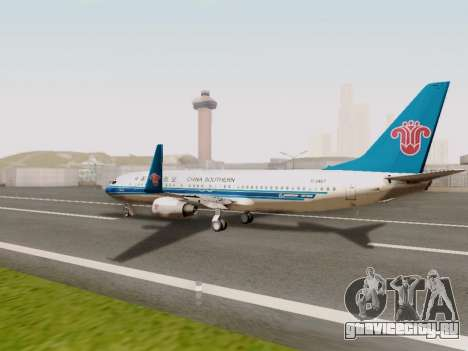 China Southern Airlines Boeing 737-800 для GTA San Andreas вид справа