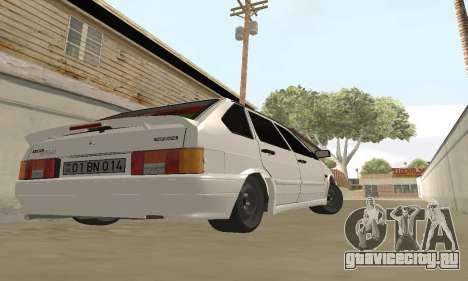 ВАЗ 2114 Avtosh для GTA San Andreas вид сзади слева