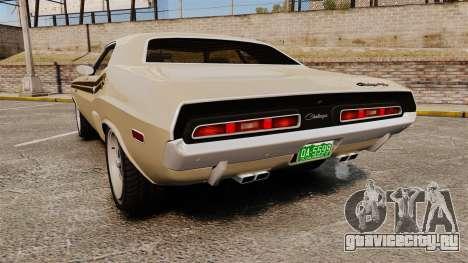 Dodge Challenger RT 1972 для GTA 4 вид сзади слева