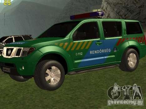 Nissan Pathfinder Police для GTA San Andreas вид сверху