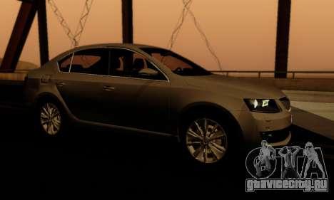 Skoda Octavia A7 для GTA San Andreas вид снизу