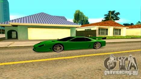 Новая Turismo для GTA San Andreas вид слева