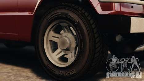 Mitsubishi Pajero I WAGON для GTA 4 вид справа