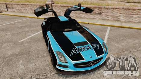 Mercedes-Benz SLS 2014 AMG Black Series Area 27 для GTA 4 вид сверху