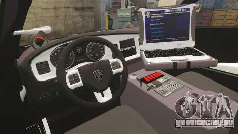 Dodge Charger 2013 LCSO [ELS] для GTA 4 вид сзади