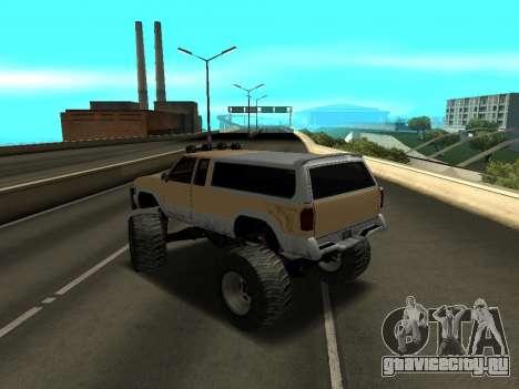 Новый Monster для GTA San Andreas вид сзади слева