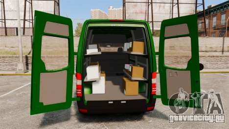 Mercedes-Benz Sprinter 2500 2011 Hungarian Post для GTA 4 вид сверху