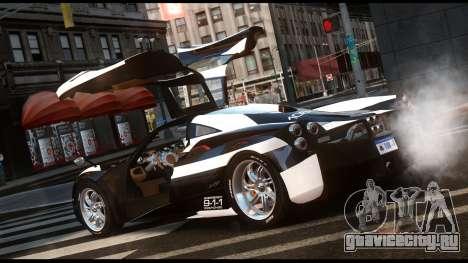 Pagani Huayra Police v1.1 для GTA 4 вид слева