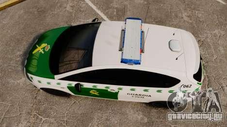 Seat Cupra Guardia Civil [ELS] для GTA 4 вид справа