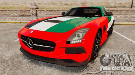 Mercedes-Benz SLS 2014 AMG UAE Theme для GTA 4