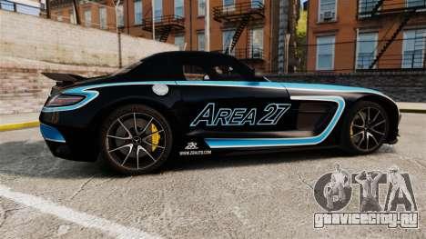 Mercedes-Benz SLS 2014 AMG Black Series Area 27 для GTA 4 вид слева