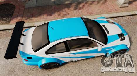 BMW M3 GTR 2012 Most Wanted v1.1 для GTA 4 вид справа